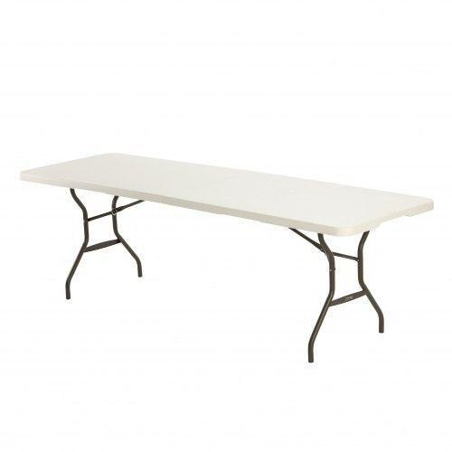 Table pliante en deux rectangulaire 10 12 pers for Table a carte pliante