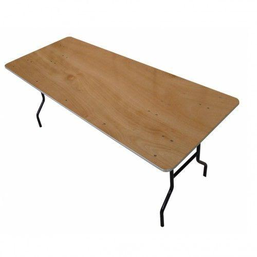 table pliante rectangulaire 8 pers. Black Bedroom Furniture Sets. Home Design Ideas